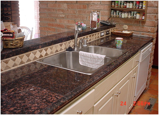 Eco-friendly granite tile countertops