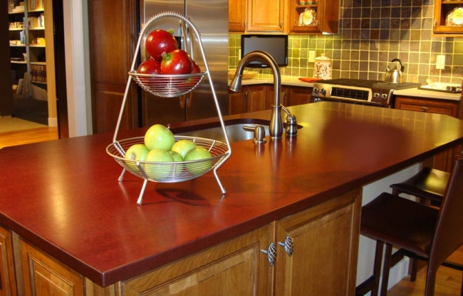 Eco Countertop Edges : Eco friendly materials used for preparing kitchen countertop edges ...