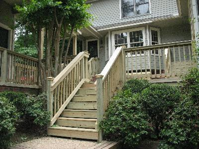 eco-friendly stairs using eco friendly pressure treated lumber