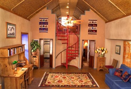 Eco-friendly straw bale house