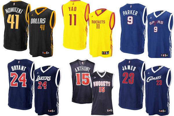 Nba basketball jerseys 2013