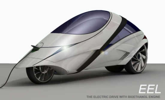 Eco Factor Low Emission Vehicle Designed To Run On An Electric Bio Ethanol Hybrid Engine