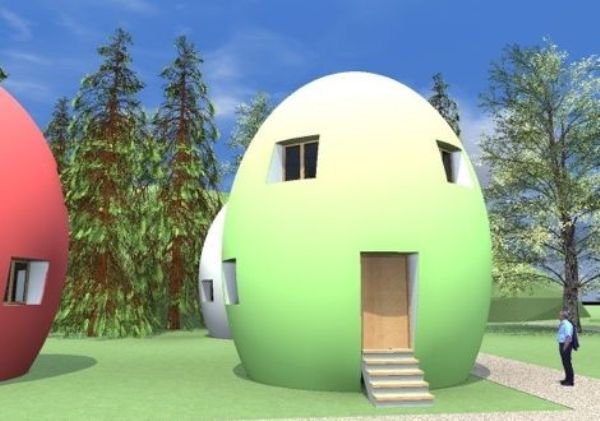 Egg house made of 90% recyclable materials