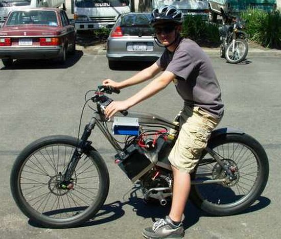 Eco Diy Beach Cruiser Bicycle Converted Into 48v Electric