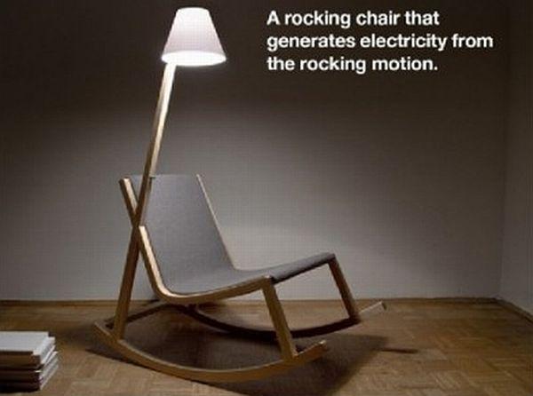 Energy generating Murakami rocking chair