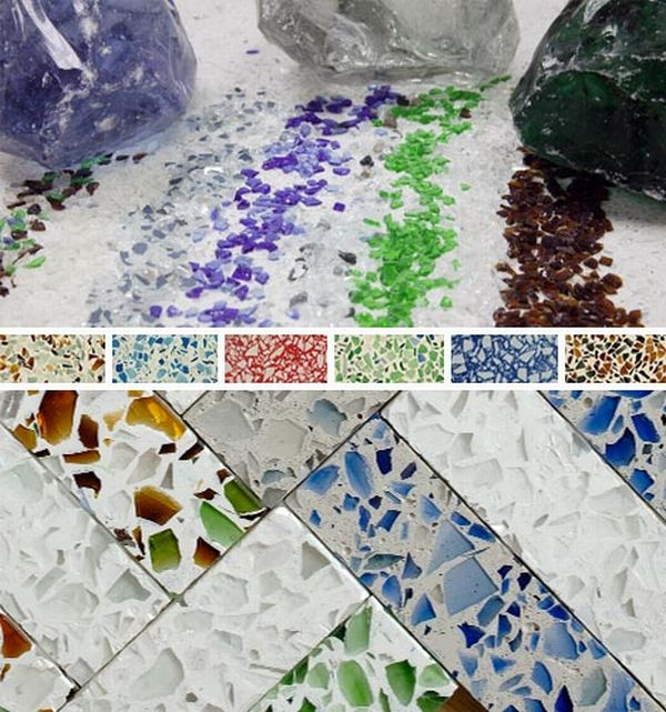 Best recycled glass countertops for eco friendly kitchens for Glass kitchen countertops