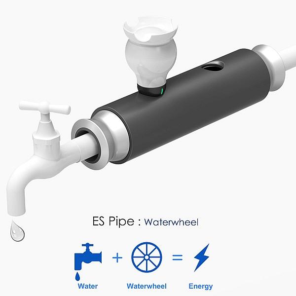 ES Pipe Waterwheel concept