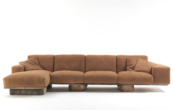 Exotic wooden rustic sofa provides eco friendly comfort