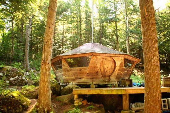 // Greg Farrell yurt