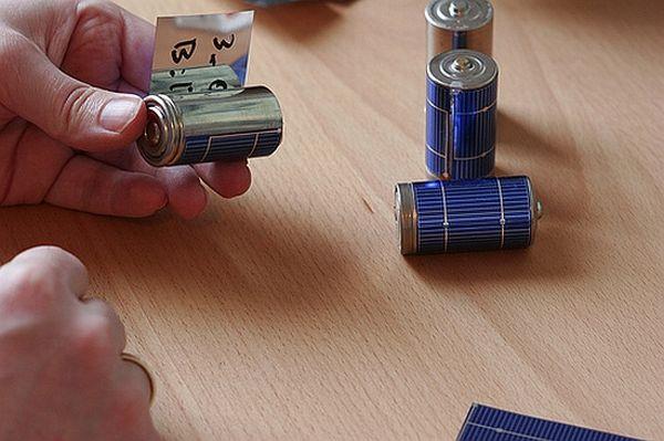 Flexible solar panels for homemade solar batteries