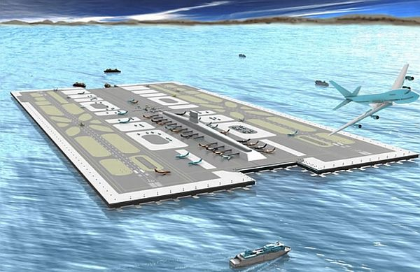 Floating airport for san diego