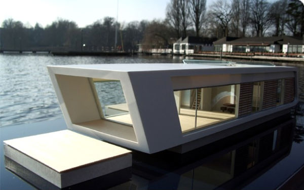 10 futuristic floating homes you could live in a globally for Architecture canard