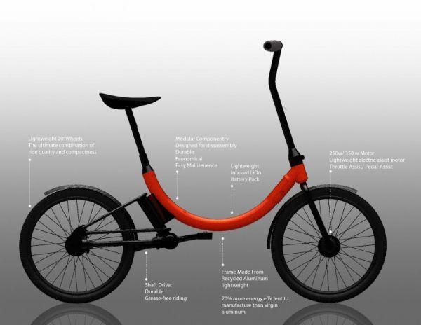 Folding electric assist bike