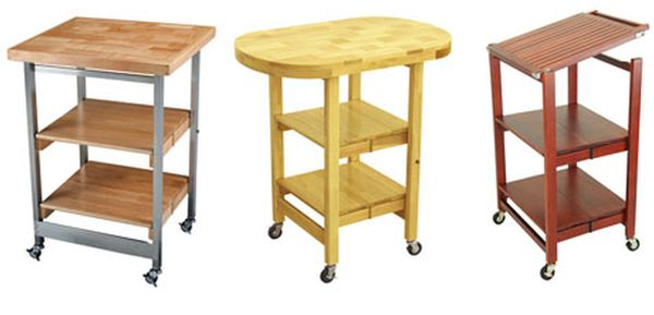 Folding tables, desks and carts with a tiny footprint