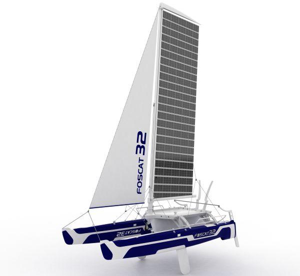foscat 32 folding solar catamaran 1
