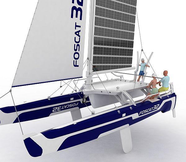 foscat 32 folding solar catamaran 2