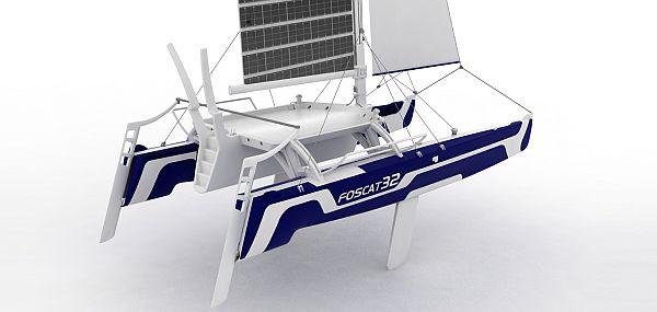 foscat 32 folding solar catamaran 3