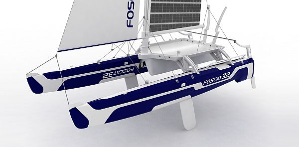 foscat 32 folding solar catamaran 6