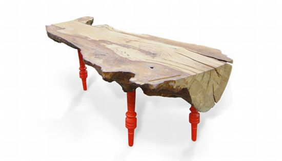 Eco recycling lost and found upcycled furniture with for Upcycled tree stumps