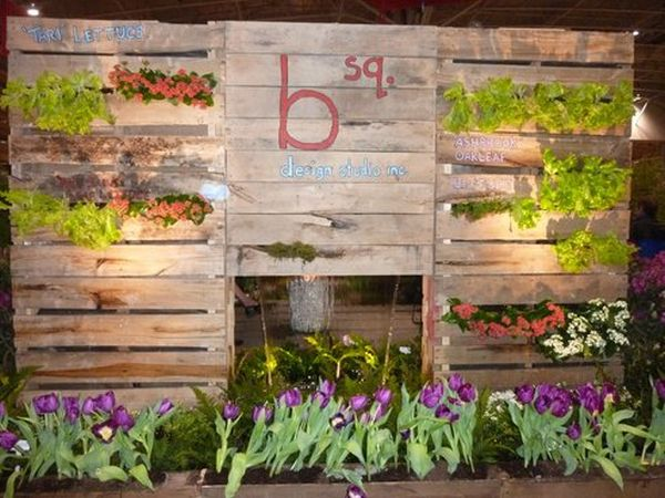 Garden Display Built Completely From Used Pallets