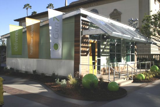 Modular Classroom Manufacturers California ~ Ams gen solar powered modular classroom breathes green