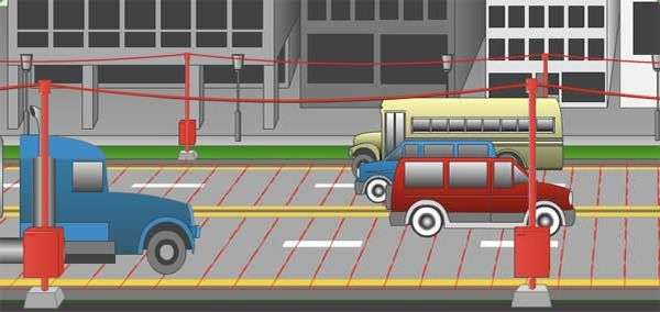 Generating electricity from moving cars