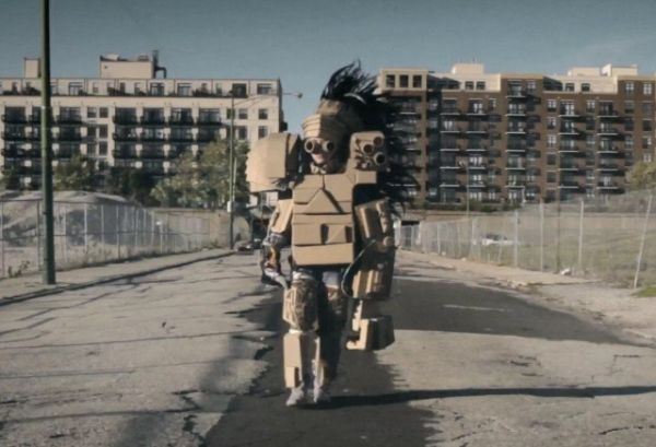 Girl In Music Video Builds Mech Armor To Combat Bullies