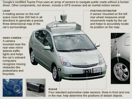 google self driving robot car