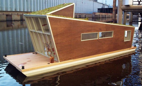 Green roof Houseboat