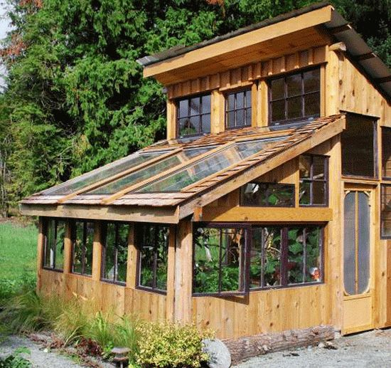 Eco art amateur artist built eco friendly greenhouse from for Materials to make a greenhouse