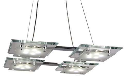 Hanging LED lighting fixtures