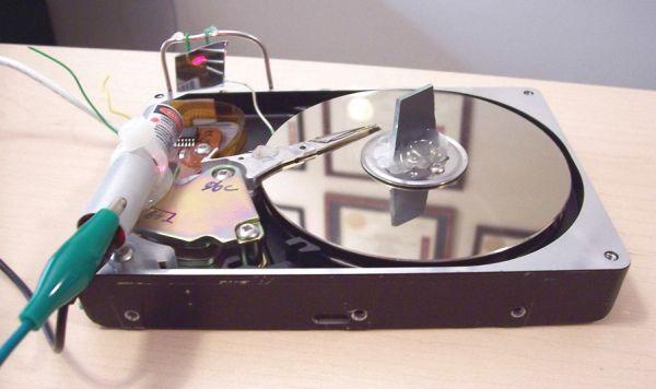 Hard drive laser oscilloscope