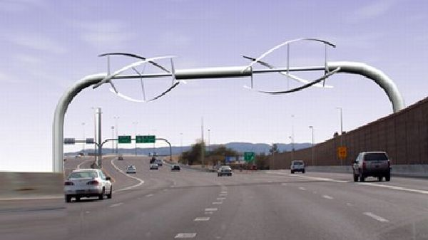 Highway wind turbine