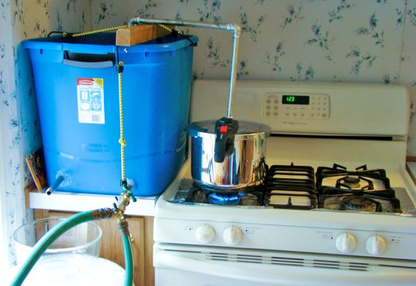 Homemade water distiller
