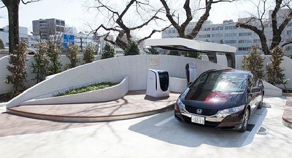 Honda Introduces Solar Hydrogen Station on Saitama Prefectural Office Grounds