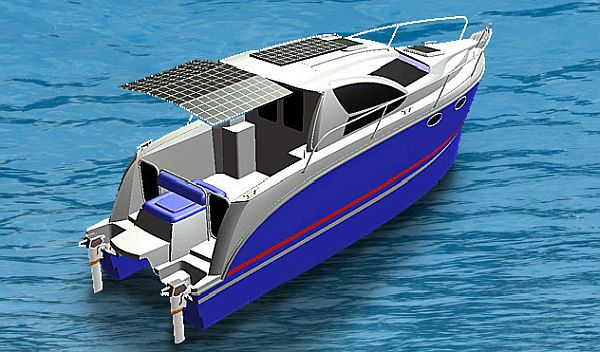 E Mc 29 Super Hybrid Electric Boat To Sail Green On The