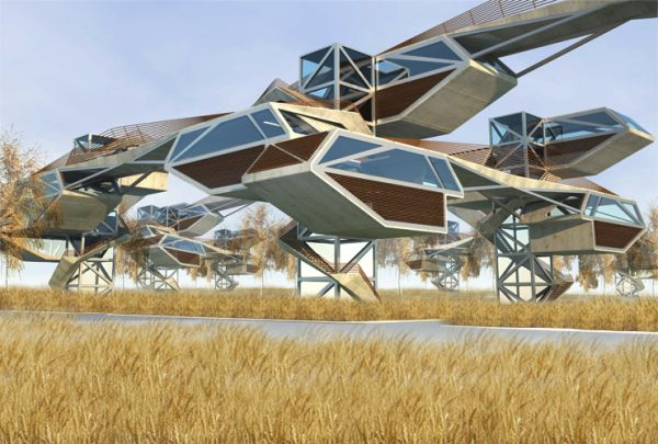 Hybrid forest integrates technology architecture and for Architecture hybride