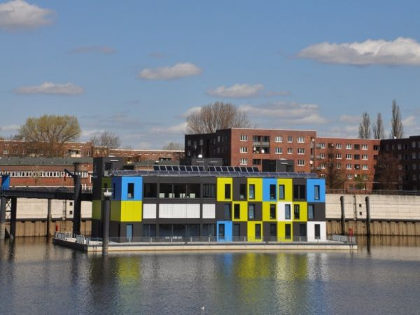 IBA_Dock: The green, floating building