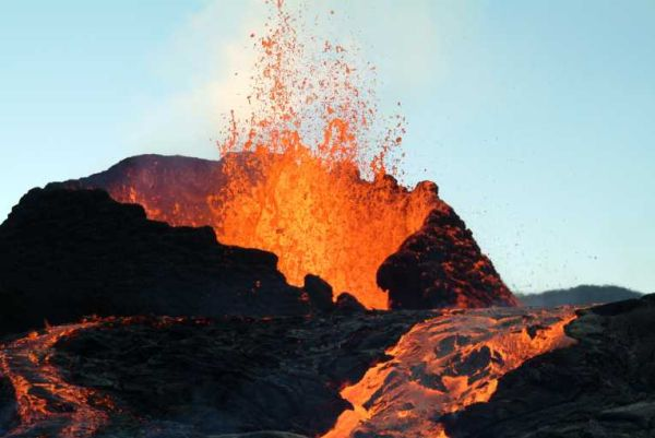 Iceland Volcano Drilling Concept