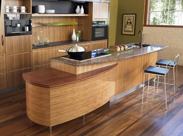 Best eco friendly kitchen cabinets ecofriend for Bamboo wood kitchen cabinets