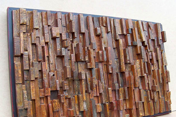 Artwork Made Using Recycled Wood