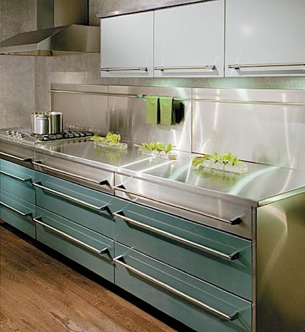 21 Sleek And Modern Metal Kitchen Designs: Best Eco Friendly Kitchen Cabinets