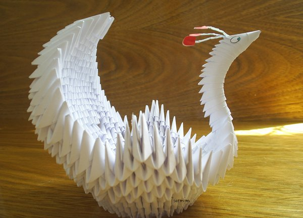 Origami Swan Crafted By Sermin 3D Chipmunk Francene Levinsons Winged Bowl