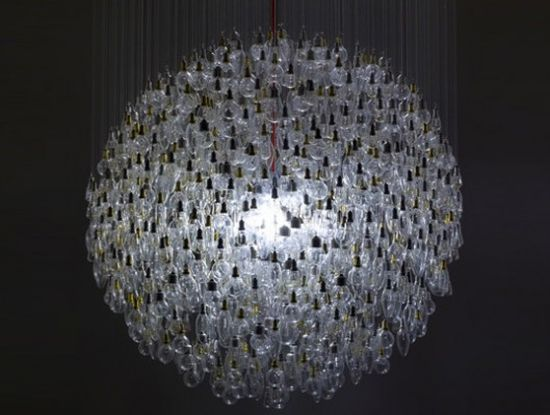 incandescent lightbulb chandelier