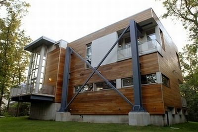 House Made From Recycled Highway Construction Scrap Steel