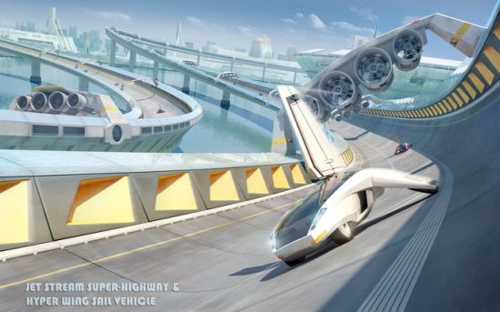 jet stream concept and hyper wing sail vehicle