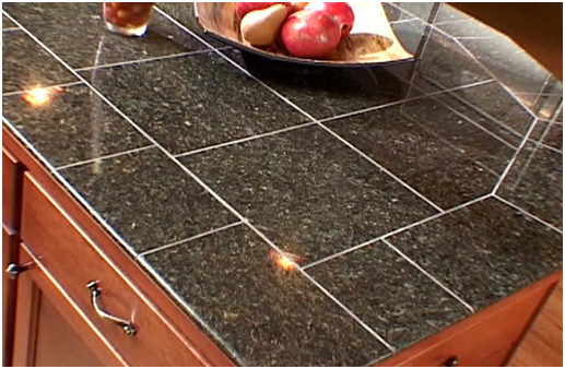 Joint granite tile countertops