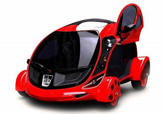 Kawkaba Fully Electric Micro Car With Futuristic Touch