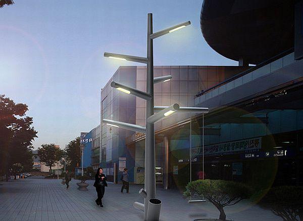 Kibisi S Street Lighting Tree Concept Relies On Renewable