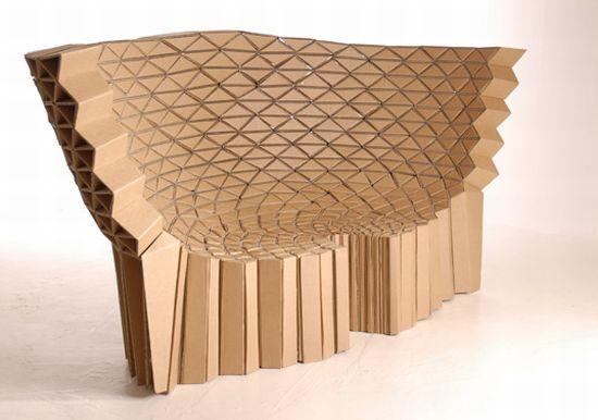 Creative Cardboard Made Furniture Items For Home Decor